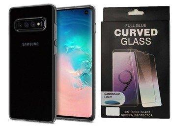 Etui Spigen LIQUID Crystal Samsung GALAXY S10 PLUS przezroczysty +szkło UV
