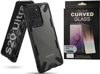 Etui pancerne RINGKE FUSION X Samsung Galaxy S20 ULTRA BLACK +szkło UV