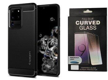 Etui pancerne SPIGEN RUGGED ARMOR Samsung Galaxy S20 ULTRA MATTE BLACK +szkło UV