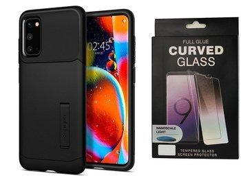 Etui pancerne SPIGEN SLIM ARMOR Samsung Galaxy S20 BLACK +szkło UV
