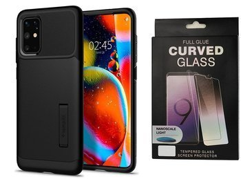 Etui pancerne SPIGEN SLIM ARMOR Samsung Galaxy S20+ PLUS BLACK +szkło UV