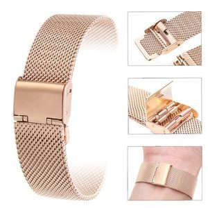 Opaska pasek bransoleta (20mm) Milanese band z zapięciem Samsung Watch ACTIVE 1/2 40/44mm rose gold