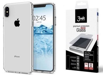 SPIGEN LIQUID CRYSTAL IPHONE X / XS CRYSTAL CLEAR +szkło 3MK FG