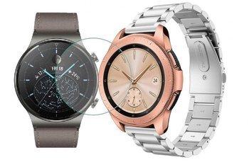 TECH-PROTECT opaska pasek bransoleta STAINLESS Huawei Watch GT 2 PRO 46mm SILVER +szkło hartowane na ekran