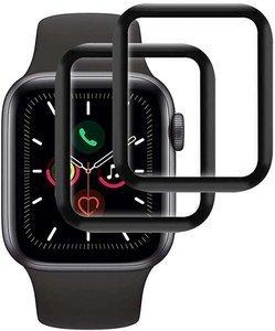 ZESTAW 2X Szkło hybrodowe FULL GLUE 5D Apple Watch 4 / 5 40mm czarny