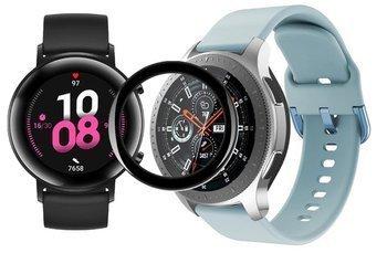 opaska pasek bransoleta GEARBAND Huawei Watch GT 2 42MM błękitna + szkło 5D