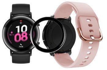 opaska pasek bransoleta GEARBAND Huawei Watch GT 2 42MM pudrowa + szkło 5D