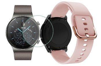 opaska pasek bransoleta GEARBAND Huawei Watch GT 2 PRO 46mm pudrowa +szkło hartowane na ekran