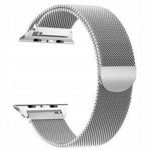 opaska pasek bransoleta MILANESEBAND Apple Watch 1/2/3/4/5 38/40mm SILVER