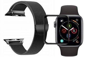 opaska pasek bransoleta MILANESEBAND Apple Watch 4/5 40mm BLACK +szkło 5D