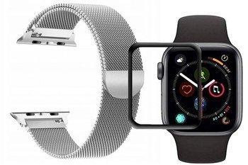 opaska pasek bransoleta MILANESEBAND Apple Watch 4/5 40mm SILVER +szkło 5D