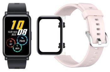opaska pasek bransoleta SMOOTHBAND Huawei Watch FIT pudrowa +szkło 5D