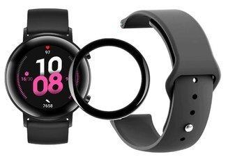 opaska pasek bransoleta SMOOTHBAND Huawei Watch GT 2 42MM czarna + szkło 5D