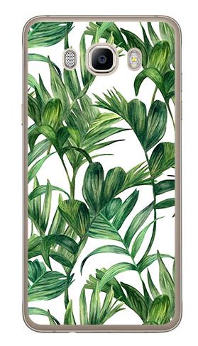 etui liście tropikalne