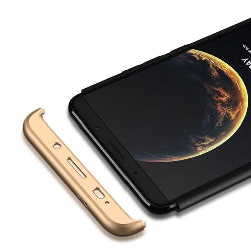 360 Protection etui na całą obudowę przód + tył Huawei Mate 10 Pro czarno-złoty