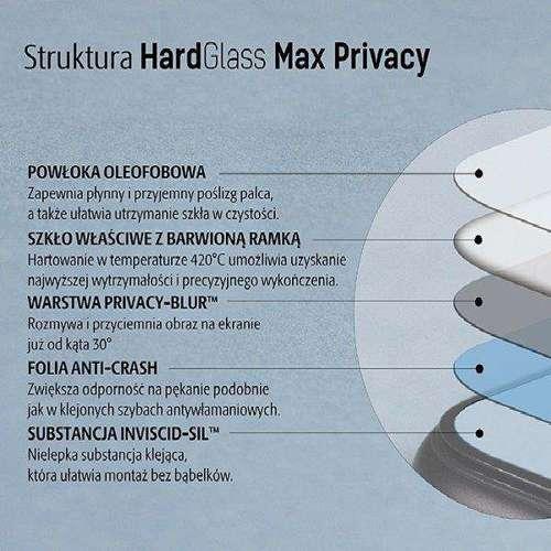 3MK Glass Max Privacy iPhone 11 Pro Max czarny/black, FullScreen Glass Privacy