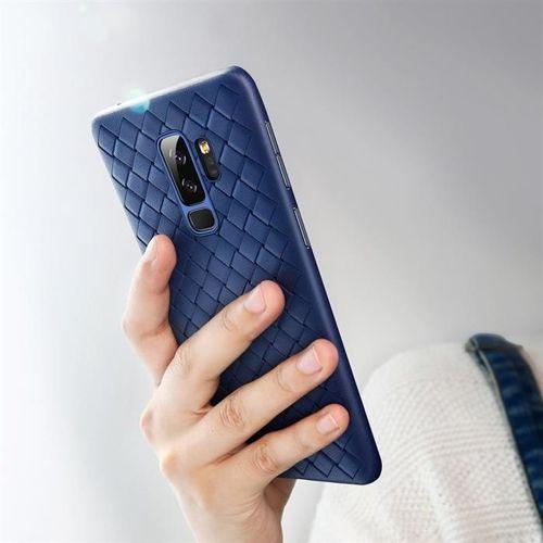 Baseus BV Weaving Case designerskie żelowe etui pokrowiec Samsung Galaxy S9 Plus G965 niebieski (WISAS9P-BV15)