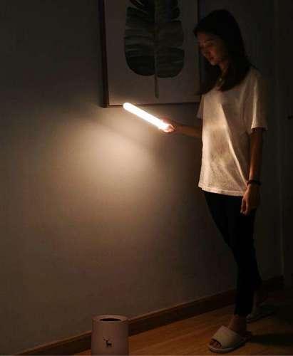 Baseus Sunshine magnetyczna lampka nocna latarka LED naturalne światło + kabel do ładowania biały (DGSUN-YA02)