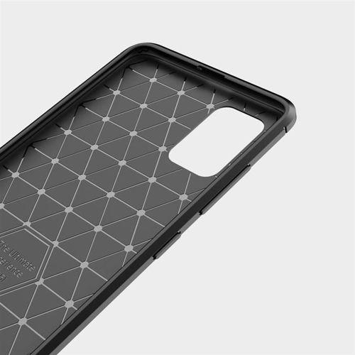 Carbon Case elastyczne etui pokrowiec Samsung Galaxy A71 czarny