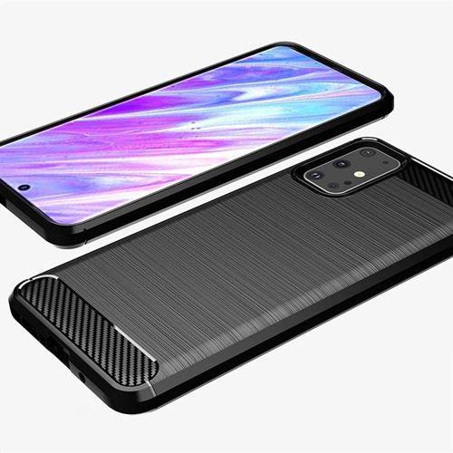 Carbon Case elastyczne etui pokrowiec Samsung Galaxy S20 Plus czarny