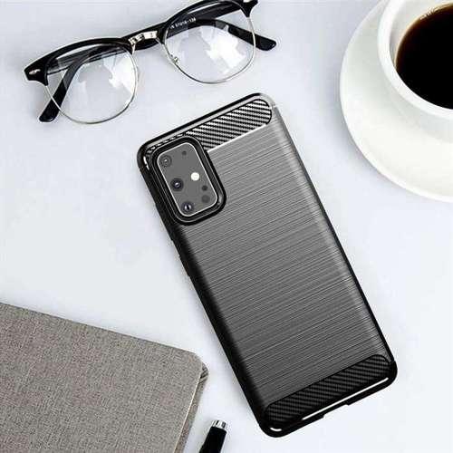 Carbon Case elastyczne etui pokrowiec Samsung Galaxy S20 Ultra niebieski