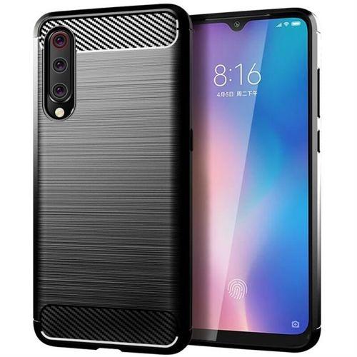 Carbon Case elastyczne etui pokrowiec Xiaomi Mi 9 Lite / Mi CC9 czarny