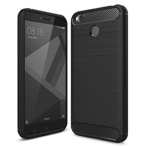 Carbon Case elastyczne etui pokrowiec Xiaomi Redmi 4X czarny