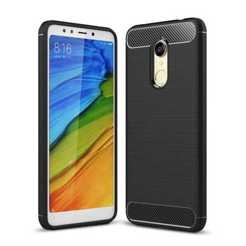 Carbon Case elastyczne etui pokrowiec Xiaomi Redmi 5 Plus / Redmi Note 5 (single camera) czarny