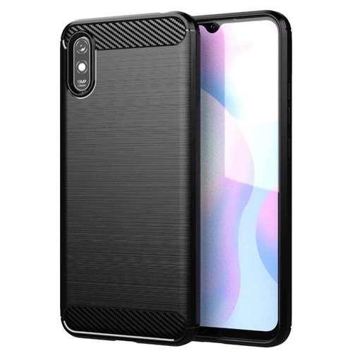 Carbon Case elastyczne etui pokrowiec Xiaomi Redmi 9A czarny