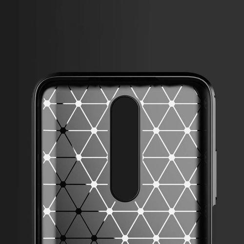 Carbon Case elastyczne etui pokrowiec Xiaomi Redmi K30 niebieski