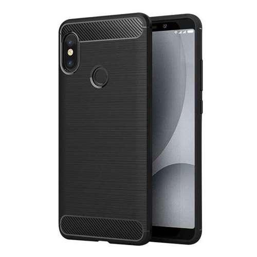 Carbon Case elastyczne etui pokrowiec Xiaomi Redmi Note 5 (dual camera) / Redmi Note 5 Pro czarny