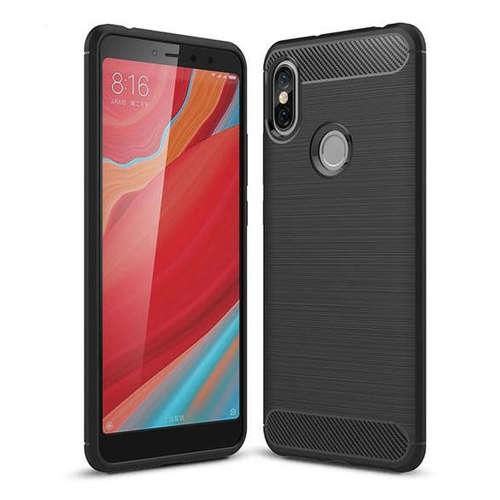 Carbon Case elastyczne etui pokrowiec Xiaomi Redmi S2 czarny