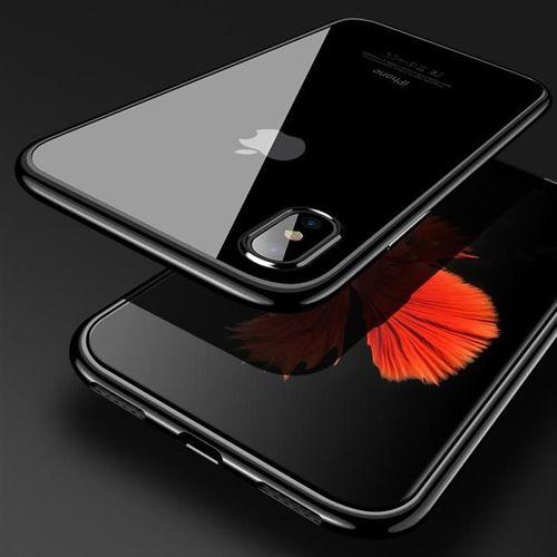 Clear Color case żelowy pokrowiec etui z metaliczną ramką Samsung Galaxy A40 niebieski