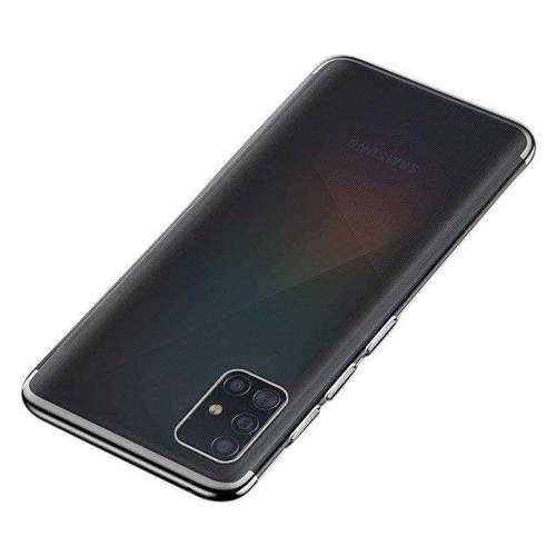 Clear Color case żelowy pokrowiec etui z metaliczną ramką Samsung Galaxy A51 czarny