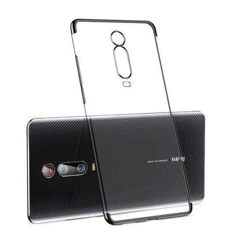 Clear Color case żelowy pokrowiec etui z metaliczną ramką Xiaomi Mi 9T / Xiaomi Mi 9T Pro czarny