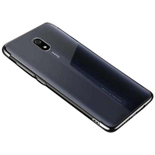 Clear Color case żelowy pokrowiec etui z metaliczną ramką Xiaomi Redmi 8A czarny