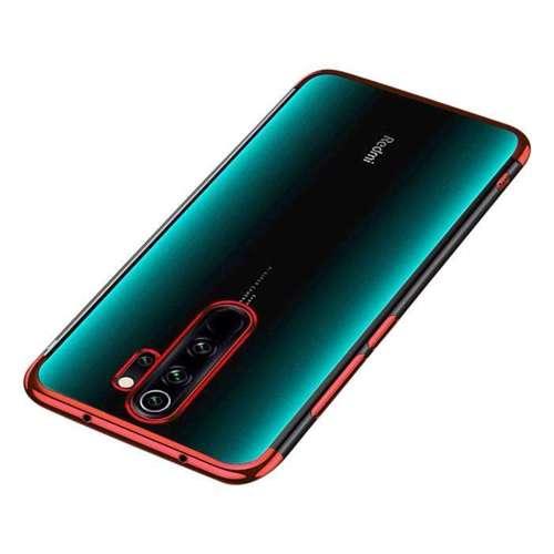Clear Color case żelowy pokrowiec etui z metaliczną ramką Xiaomi Redmi 9 czerwony