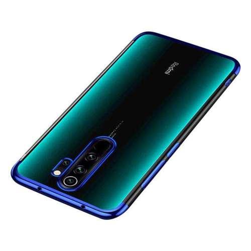 Clear Color case żelowy pokrowiec etui z metaliczną ramką Xiaomi Redmi Note 8 Pro niebieski