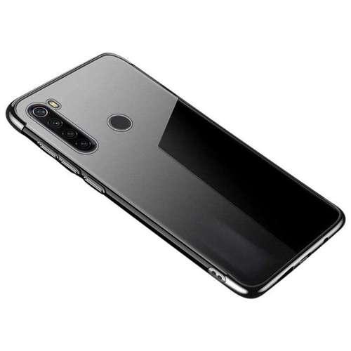 Clear Color case żelowy pokrowiec etui z metaliczną ramką Xiaomi Redmi Note 8T czarny
