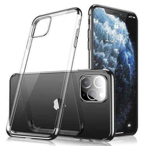 Clear Color case żelowy pokrowiec etui z metaliczną ramką iPhone 11 czarny