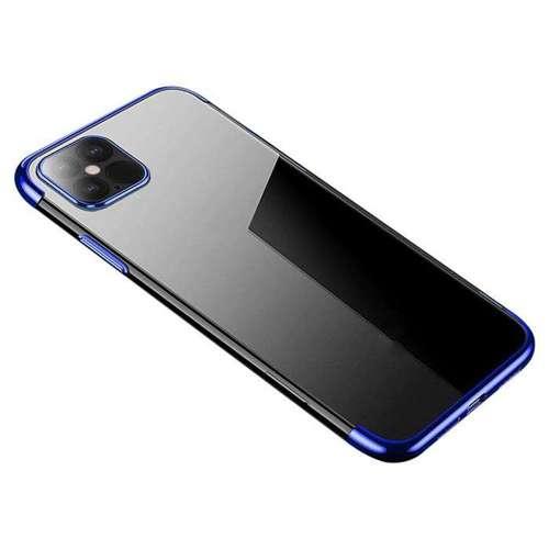 Clear Color case żelowy pokrowiec etui z metaliczną ramką iPhone 12 Pro Max niebieski