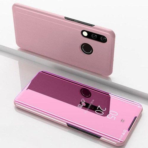 Clear View Case futerał etui z klapką Huawei Y7 2019 / Y7 Prime 2019 różowy