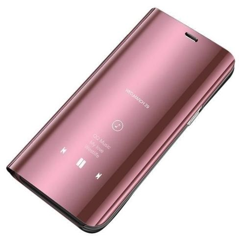 Clear View Case futerał etui z klapką Samsung Galaxy A10 / Galaxy M10 różowy