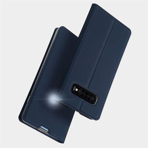 DUX DUCIS Skin Pro kabura etui pokrowiec z klapką Samsung Galaxy S10 Plus złoty