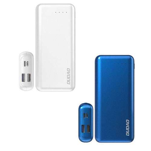 Dudao 2x USB power bank 20000mAh Power Delivery Quick Charge 4.0 3,7A 45W niebieski (K12PRO blue)
