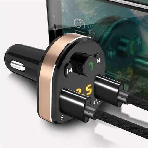 Dudao Transmiter FM Bluetooth ładowarka samochodowa MP3 3.1 A 2x USB czarny (R2Pro black)