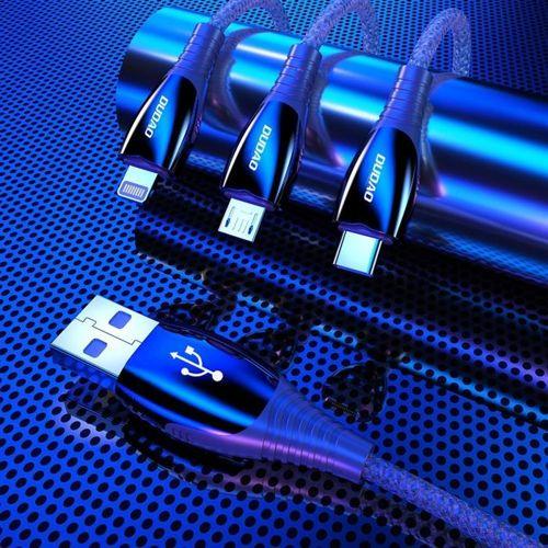 Dudao kabel przewód USB - Lightning 1,23m 3A szary (L7Pro grey)