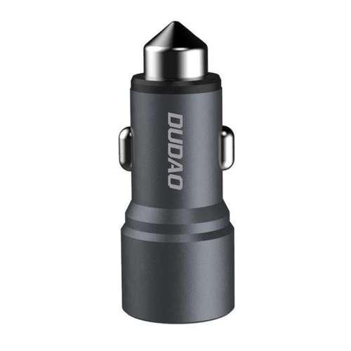 Dudao ładowarka samochodowa 2x USB 3.1A szary (R5 grey)