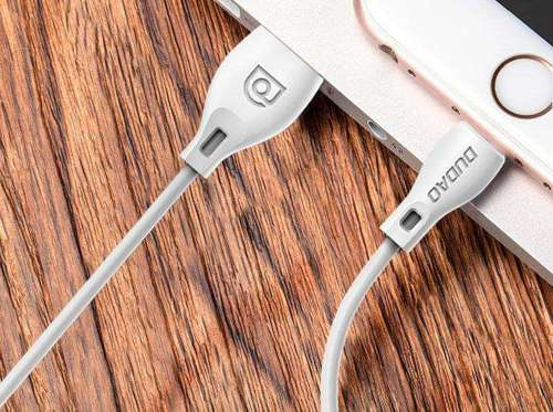 Dudao przewód kabel USB / Lightning 2.1A 2m biały (L4L 2m white)