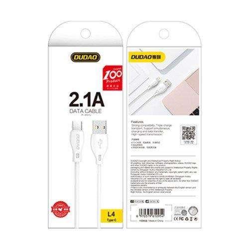 Dudao przewód kabel USB Typ C 2.1A 2m biały (L4T 2m white)